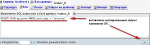 прописываем SQL-запросы