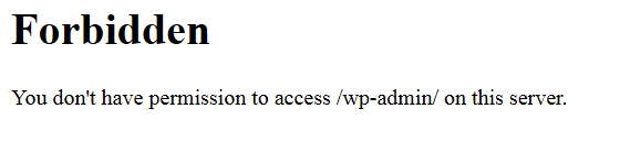 forbidden-you-dont-have-permission-to-access-wp-admin-on-this-server
